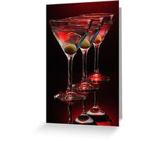 Red hot Martinis Greeting Card