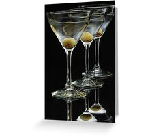 Three Martinis Greeting Card