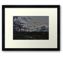 Litter on Country Path at Sunset Framed Print