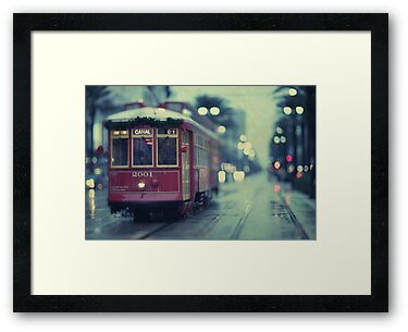 Streetcar on Canal Street - New Orleans by Alfonso Bresciani