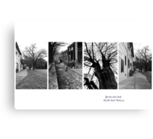 Yackandandah Streetscape - montage N E Victoria Canvas Print