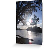 Sunset on the Murray Greeting Card