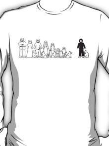 Stark Family Vehicle Sticker (Game of Thrones Shirt) T-Shirt
