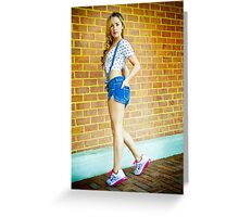 Tina-Overalls-7 Greeting Card