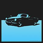 MGB, 1971 - Light Blue on Black by uncannydrive