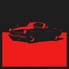 MGB, 1971 - Red on Black by uncannydrive
