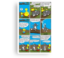 """Rick the chick  """"THE MAGIC SHELL (Pigrotto il gatto vegan) parte 8"""" Canvas Print"""