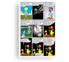 """Rick the chick  """"THE MAGIC SHELL (Bad chick) parte 23"""" Canvas Print"""