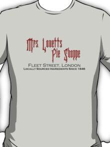 Mrs. Lovett's Pie Shoppe (Red/Black) T-Shirt