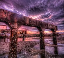 Trestle under sky by GeoffSporne
