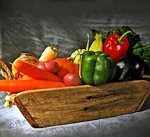 Vegetable Basket Sketch by George Petrovsky