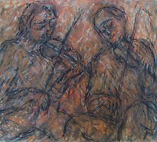 Two Fiddles by Tom O'Rourke