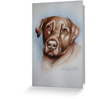 BRUD The Chocolate Labrador. Acrylic paint and Pencil Crayon 2011 Greeting Card