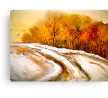 The First Thaw Canvas Print