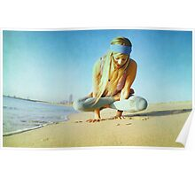 Elevated lotus at the beach Poster