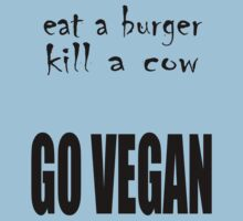 Eat a Burger Kill a Cow - Go Vegan by veganese