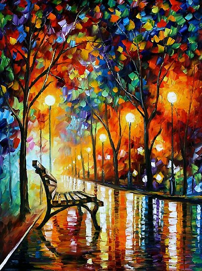 THE LONELINESS OF AUTUMN - Leonid Afremov by Leonid  Afremov