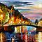 OVER THE BRIDGE - LEONID AFREMOV by Leonid  Afremov