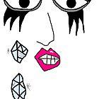 Lady Gaga Crying Swarovski Tears by Danielle  La Valle