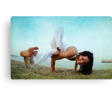 Balance and strengh Asana at the Beach Canvas Print