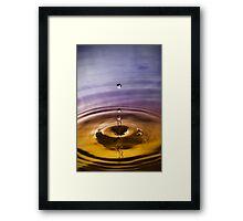 Droplet - Blue Gold Framed Print
