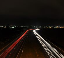 Ring Road Light Trails by jayjayf