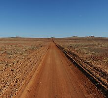 Journeys End - Outback Australian road by James  Harvie