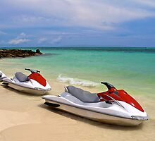 Jet Ski waiting at the shore by Svetlana Day