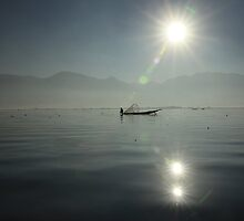 Fishing at Inle Lake, Myanmar by nicholleylon