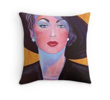 Glamorous Lady from the Fifties Throw Pillow