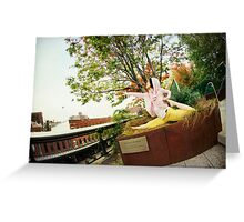 Yoga at High Line Park, New York Greeting Card