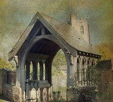 Church and Lytchgate by Catherine Hamilton-Veal  ©