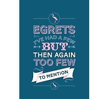 Egretts, I've had a few Photographic Print