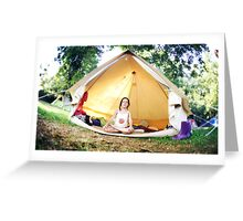 Meditation in the tent Greeting Card