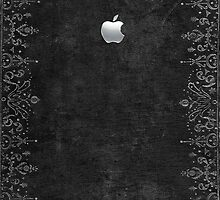 Apple embossed silver on silver-leaf book cover by goodedesign