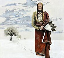 Quanah Parker Leaving his Home by Steve Williams