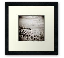 { sun, surf, sand } Framed Print