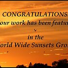 World Wide Sunsets Feature Banner by hummingbirds