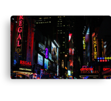 Neon Nights Canvas Print