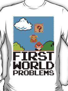 First World Problems (Black) T-Shirt