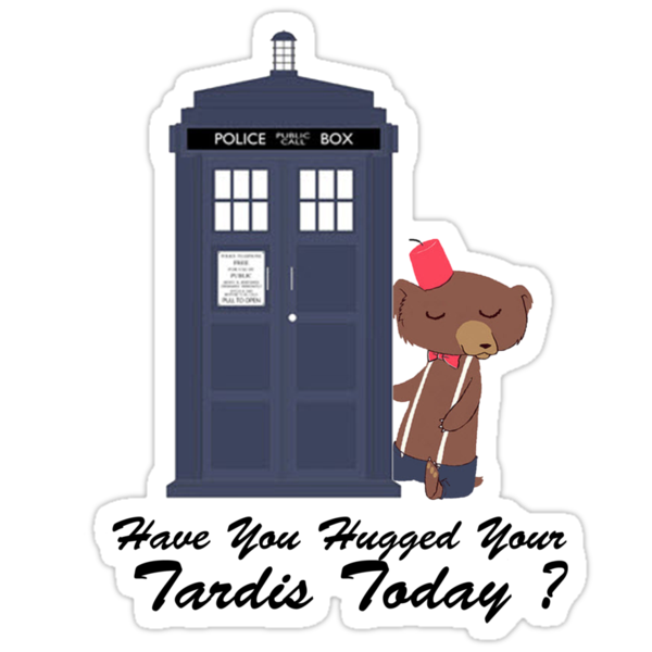 Have You Hugged Your Tardis Today ? ( T-Shirt ) by PopCultFanatics