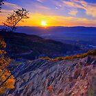 Sunset over Stob Pyramids, Bulgaria by Ivo Velinov