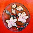 "Love Birds - Acrylic and Mixed Media by Belinda ""BillyLee"" NYE (Printmaker)"