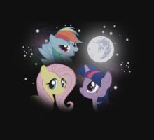 Three Pony Moon by Dennis Brony Fluttershy