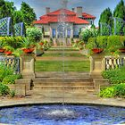 Philbrook Art Museum South-side Fountain by bannercgtl10