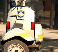 Police Vespa by larry flewers