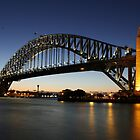 Sydney Harbour Bridge at dusk by renekisselbach