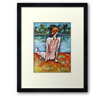 Almost Alone At The Beach Framed Print
