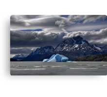 Iceberg, Mountains and Sky Canvas Print