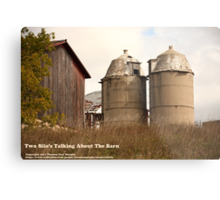 Two Silos Talking About The Barn Metal Print